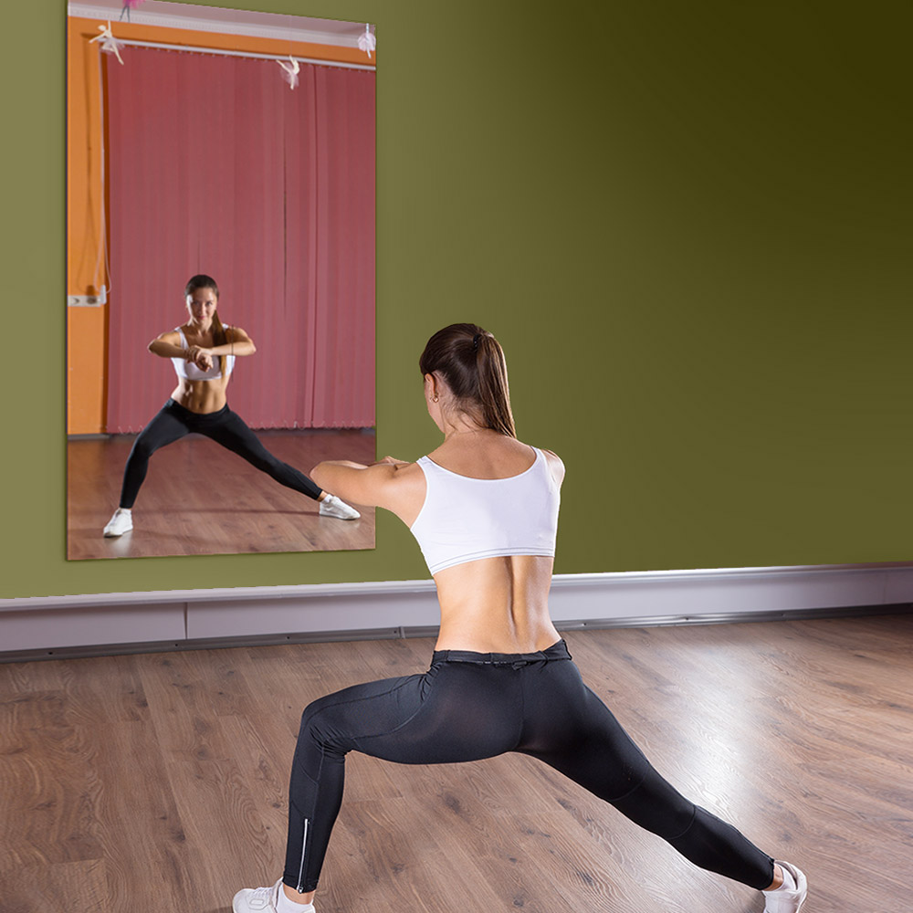Gym mirrors huge dance studio fitness mirrors dulles glass